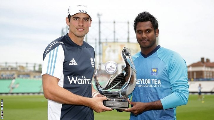 England captain Alastair Cook and Sri Lanka's Angelo Mathews