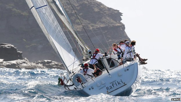 Cheeki Rafiki yacht pictured during Antigua Sailing Week 2014
