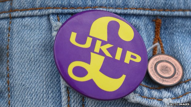 A UKIP badge