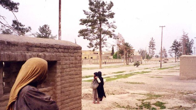 Lashkar Gah's Bost main road in 1997 had lost most of its trees and power lines