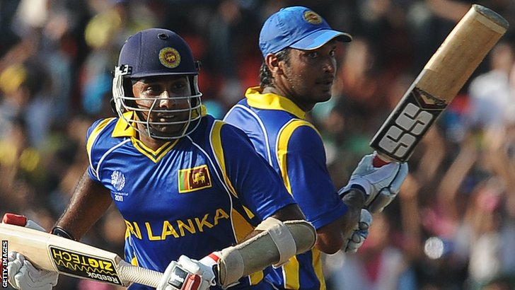 Mahela Jayawarden and Kumar Sangakkara
