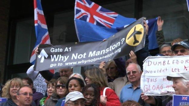 Manston protesters