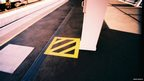 Yellow square at Gatwick Station