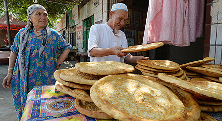 Ethnic Uighurs in Xinjiang province