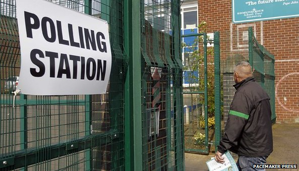 Polling stations opened at 07:00 BST and closed at 22:00 BST