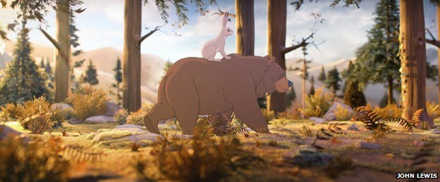 A scene from the John Lewis advert