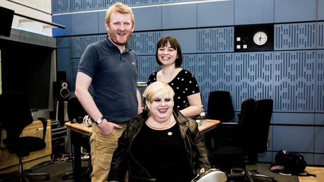 Rob Crossan, Barbara Lisicki, Kate Monaghan in the studio