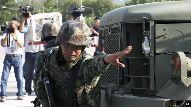Thai soldier in Bangkok, 22 May