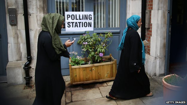 Voters in Brick Lane, London