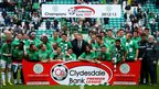 Celtic celebrate winning the Clydesdale Bank Premier League in 2013
