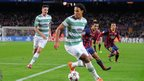 Virgil van Dijk in action for Celtic against Barcelona