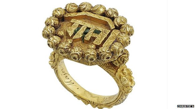 Ring belonging to Tipu Sultan