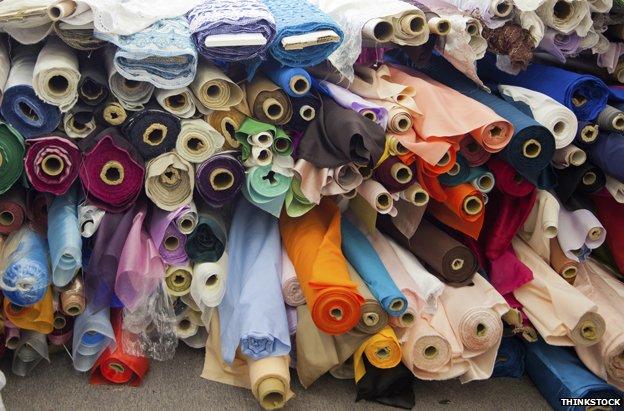 Bolt of fabric