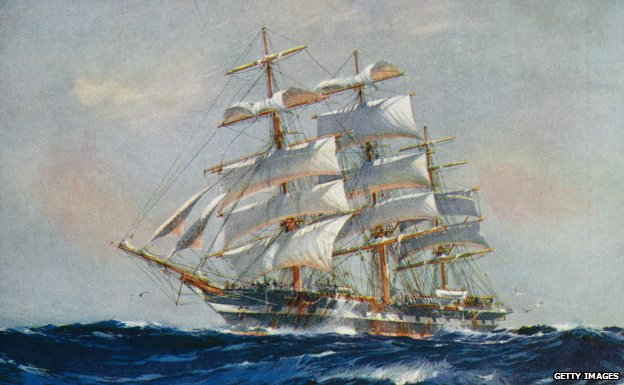 The clipper ship 'Piako', 1926. By Jack Spurling.