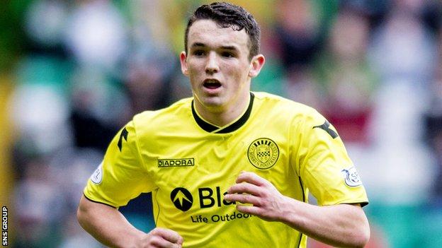 St Mirren midfielder John McGinn