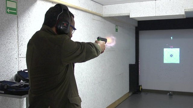 A 'smart gun' being fired