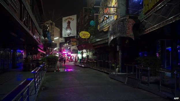 "Bangkok's ""Soi cowboy"" district, 22 May"