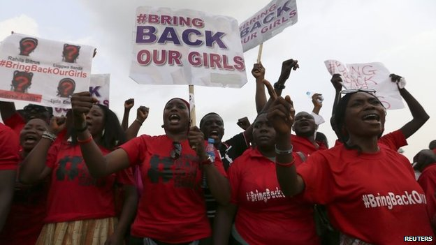 Protesters in Abuja demand the release of the abducted Nigerian schoolgirls (22 May 2014)