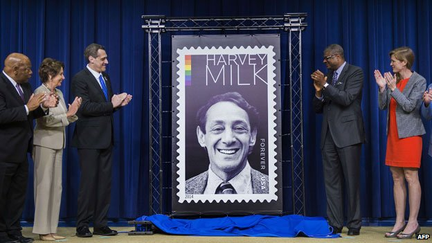 Harvey Milk stamp unveiled at White House