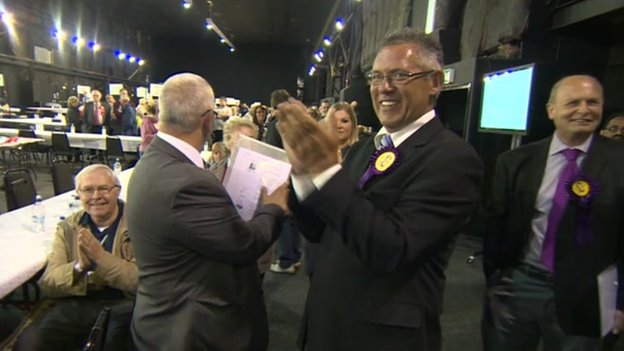 UKIP celebrates in Rotherham