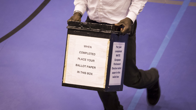 Voting box in Croydon