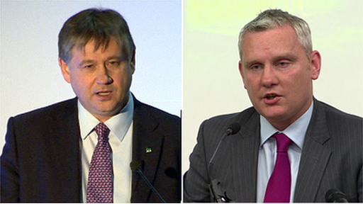 NI21 party leader Basil McCrea and deputy leader John McCallister