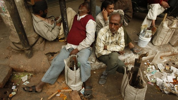 India jobless workers