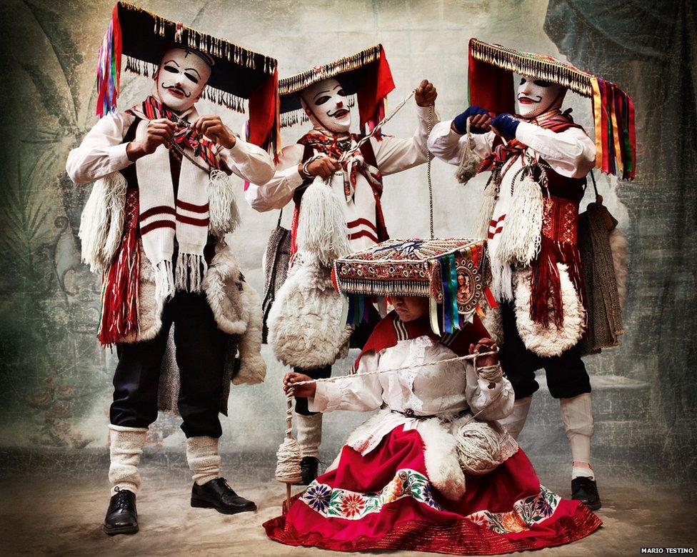 Qhapaq qolla dance costume. District and province of Paucartambo, Cusco, 2010