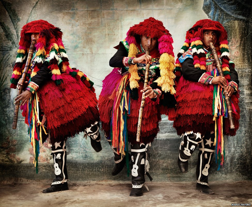 Costumes for the Carnival of Ccatcca. District of Ccatcca, province of Quispicanchi, Cusco, 2007