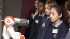 The pupils meet a humanoid robot