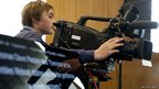 Ieuan tries his hand at being a cameraman