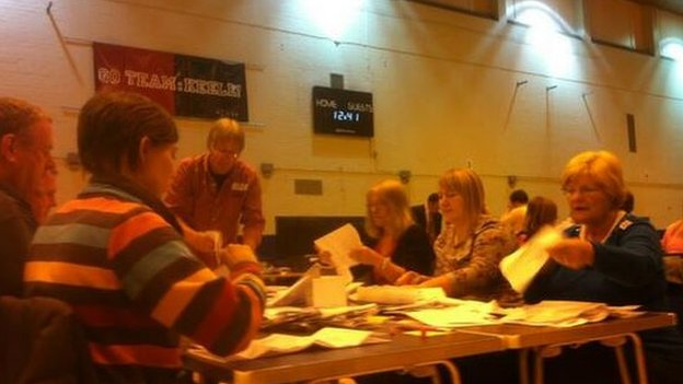 People count the votes at Newcastle under Lyme