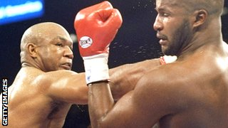 George Foreman fighting Michael Moorer, 1994
