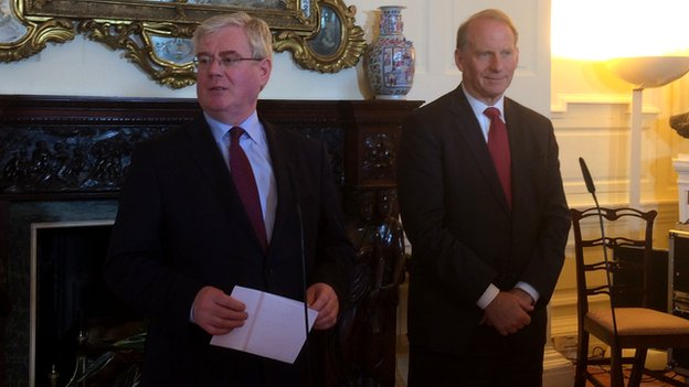 Eamon Gilmore and Richard Haass