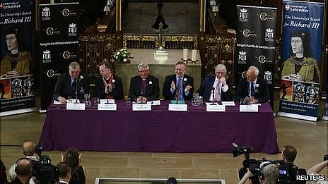 Press conference at Leicester cathedral