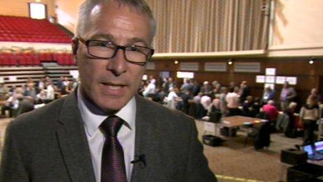 BBC reporter Jon Hunt at Tunbridge Wells count