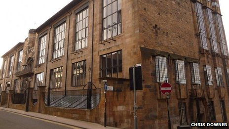 This is what Charles Rennie Mackintosh's famous building should look like. It is widely-regarded as one of Scotland's finest