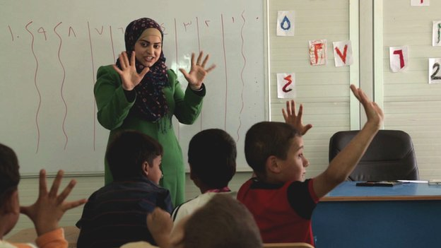 Remedial class in Azraq camp