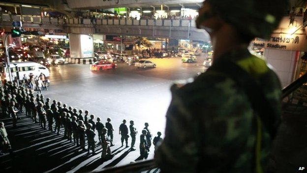 Thai troops in Bangkok, 23 May