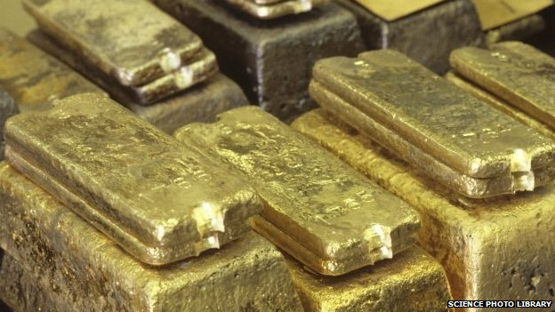 File photo of gold ingots