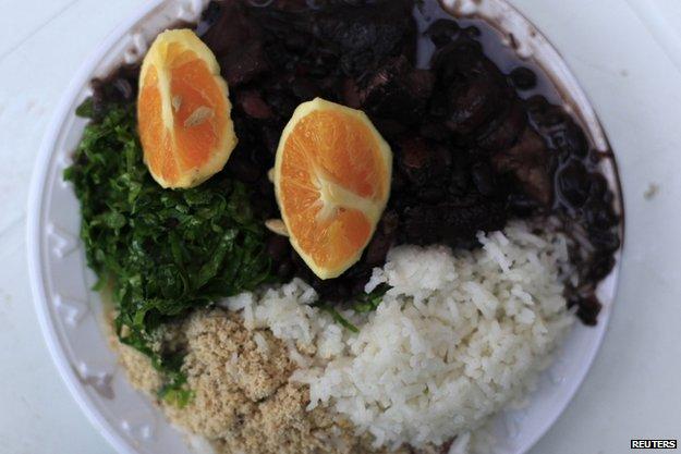 "Brazilian traditional dish Called ""Fejoada"""