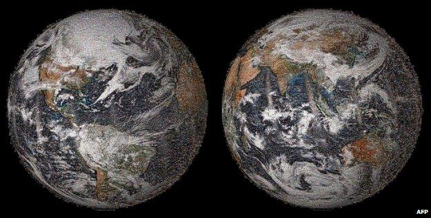 Selfie earth mosaic