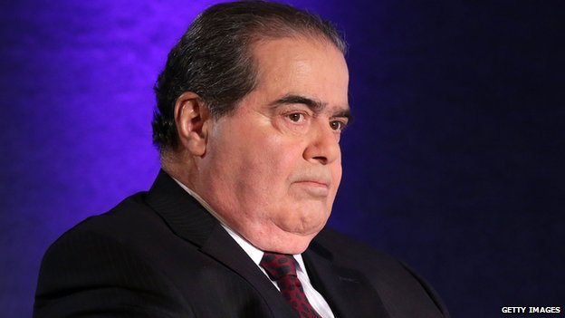 Supreme Court Justice Antonin Scalia in Washington, DC.