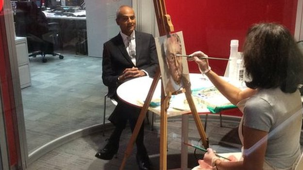 George Alagiah sits for a colour study
