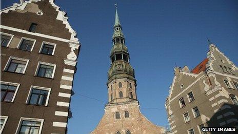 St Peter's church in Riga