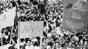 1950s street protest in Egypt