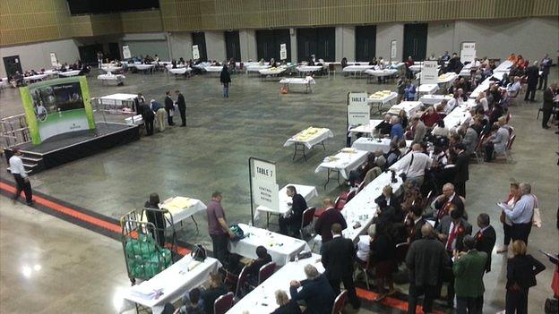 Election count at Milton Keynes