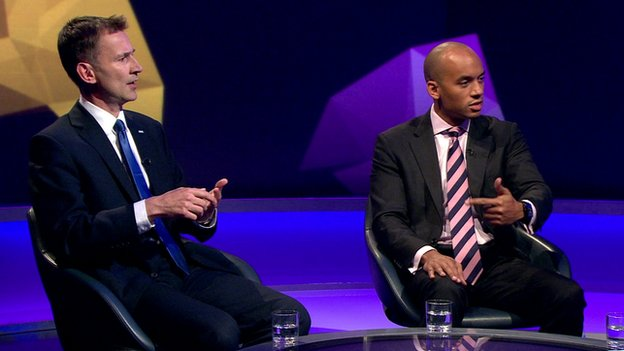 Jeremy Hunt and Chuka Umunna on Newsnight