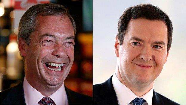 Nigel Farage and George Osborne