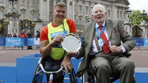David Weir and Sir Roger Bannister